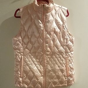 Lands' End Goosedown Feather Pink Puffer Vest